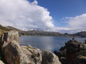 Landschaft vom Titicacasee